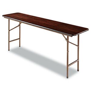 Alera-Wood-Folding-Table-Rectangular-72wx18dx29h-Mahogany-FT727218MY