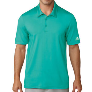 Adidas Men's Climalite Jacquard Solid Polo Golf Shirt NEW