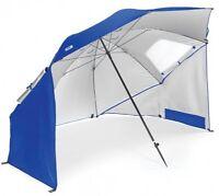 Sport-brella Beach Umbrella Sun Tent Rain Shelter Large Canopy Camping Blue
