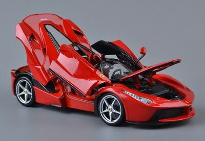 Bburago 1/18 Ferrari Laferrari Diecast Model Sports Car Toy Collection New Red