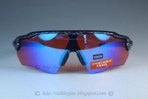 Oakley RADAR EV XS PATH YOUTH Sunglasses OJ9001-0431 Carbon Fiber W/ PRIZM Trail