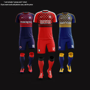 bbab65332 Image is loading ORKY-Custom-Soccer-Uniforms-Customized-Team-Jersey-with-