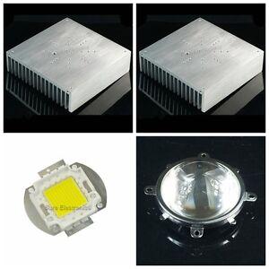 170*170*44mm 6.7inch Aluminum Heatsink w 50W RGB LED+Lens Reflector+Driver