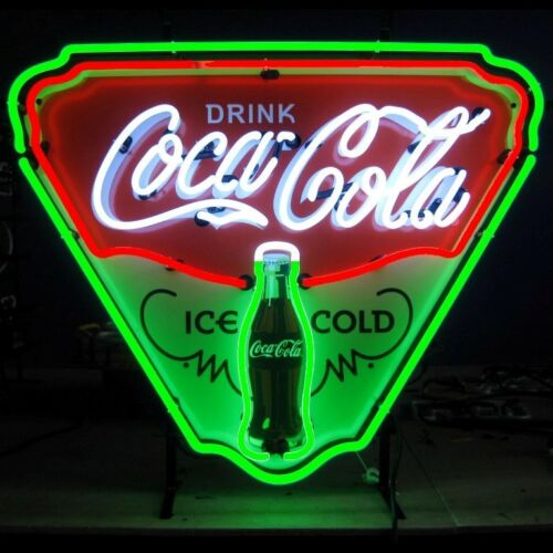 Coca-Cola Ice Cold Shield Neon Sign Retro soda Fountain Coca Cola Evergreen lamp