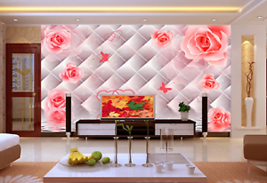 3D pinks Bloom 5699 Wallpaper Murals Wall Print Wallpaper Mural AJ WALL UK Kyra