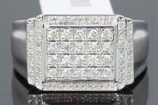 10K WHITE GOLD .62 CARAT MENS REAL DIAMOND ENGAGEMENT WEDDING PINKY RING BAND
