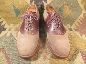 Austin Reed Of Regent Street Two Tone Suede Leather Saddle Oxford 9 5 M Ebay