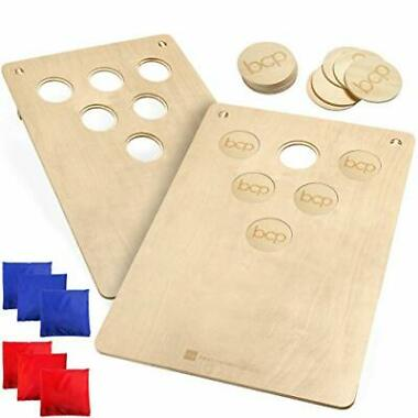 BCP 2-In-1 Cornhole & Beer Pong Board Game Set