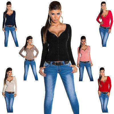 Strickjacke langärmelig Knopfleiste Einheitsgröße 34 36 38 40 Jacke Sweater neu