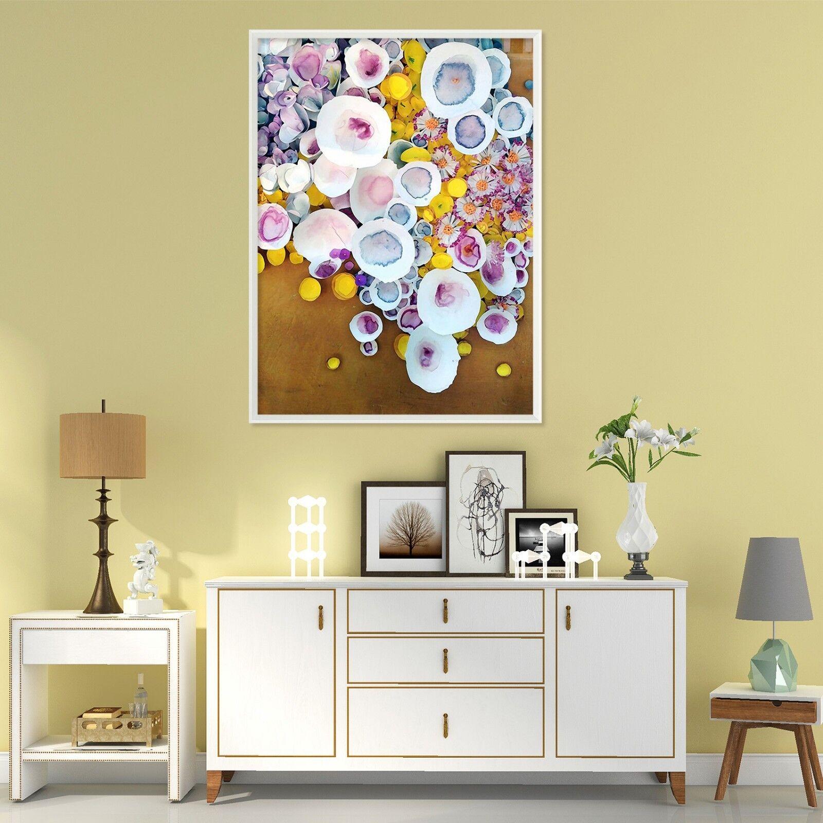 3D Floral Graffiti 3 Framed Poster Home Decor Print Painting Art AJ WALLPAPER