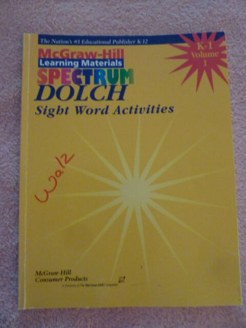 McGraw-Hill Spectrum Dolch sight Word Activities Books Volumes 1 & 2