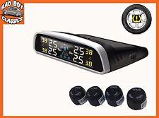 TPM Solar Inalámbrica neumático Presión De Neumáticos Monitor sistema de sensores externos Universal
