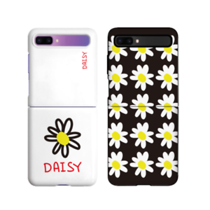 For Galaxy Z Flip Case, Hard Case Shockproof Thin Fit Flower Pattern Protection