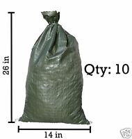Sandbaggy 10 Green Empty Sandbags For Sale 14x26 Sandbag Sand Bags Bag Poly
