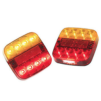 Number Plate PAIR LED Trailer Rear Light Lamp Set 12 Volt Stop Tail Indicator