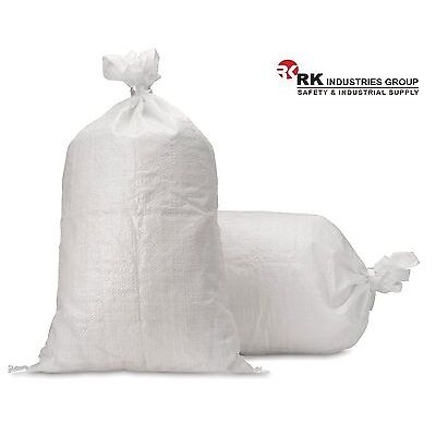 RK 20 Empty Polypropylene Sandbags Sand Bag Poly Bags For Sale 17x27, Pack of 20