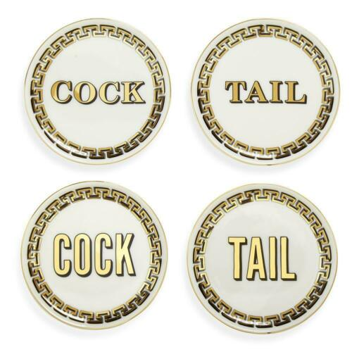 Set of 4 Jonathan Adler Cock//Tail Coaster