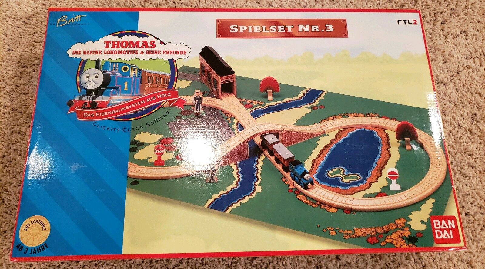 Thomas wooden Railway Rare New In Box Instant System  3 German Version 1996