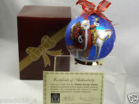 Thomas Pacconi 6 Hand Painted Blown Glass Ornament W Stand In Gift Box Blue