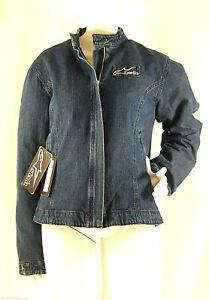 Giacca-Moto-Donna-STELLA-Jeans-Con-Protezioni-Removibili-D086-Blu-Nero-Tg-XXL