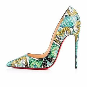 72b26bb12acb Image is loading Christian-Louboutin-SO-KATE-120-Python-Inferno-Heels-