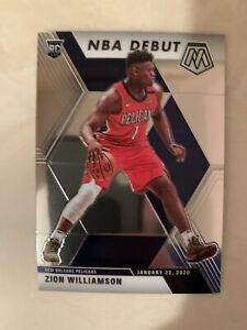 2019-20 Panini Mosaic NBA Debut Zion Williamson ***ROOKIE CARD*** #269, Pelicans