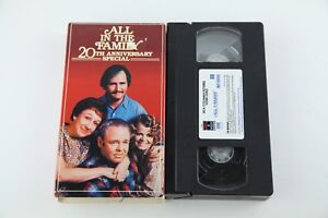 All-In-The-Family-Twentieth-Anniversary-Special-VHS-Tape-Archie-Bunker-80s-Retro