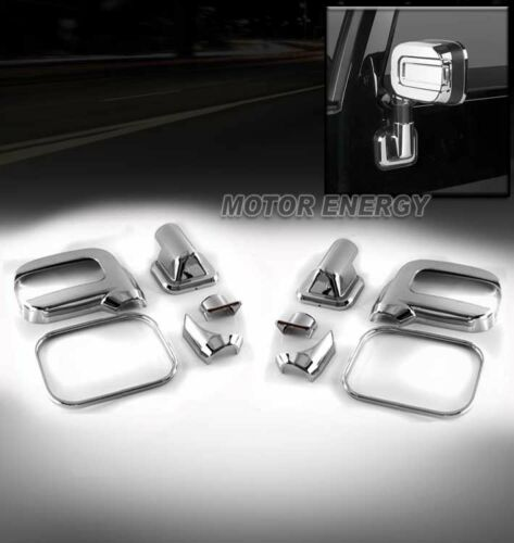 06-09 HUMMER H2 SUV SUT SIDE MIRROR COVER TRIM CAP GUARD CHROME 10PCS LEFT+RIGHT