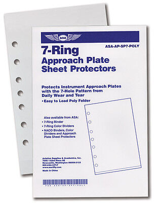 7 RING JEPPESEN POLY CHART PROTECTORS by ASA p//n ASA-AP-SP7-POLY