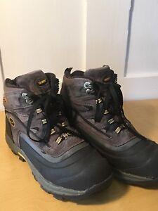 95e983ce1fc Details about Men's KHOMBU Hiking Boots Size 8 Waterproof Winter Flume Gray  Yellow