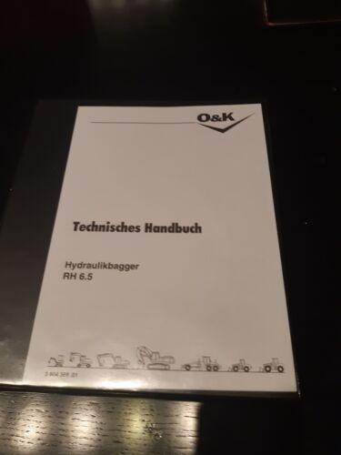 O/&K Orenstein /& Koppel RH6.5 RH65 REPARATURHANDBUCH WERKSTATTHANDBUCH