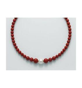collana-donna-Miluna-PCL5321-argento-perle-ROSSO-CORALLO-collier-oro-DECRESCENTE