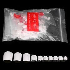 500Pcs Transparent Design French False Acrylic UV Gel Foot Toe Nail Art Tips