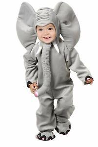 Little Elephant Grey Costume Jumpsuit Child Animal Girls Boys Kids