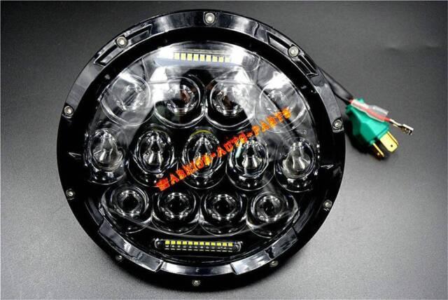 "For HARLEY 7"" MOTORCYCLE BLACK PROJECTOR HID LED LIGHT BULB HEADLIGHT AAA"