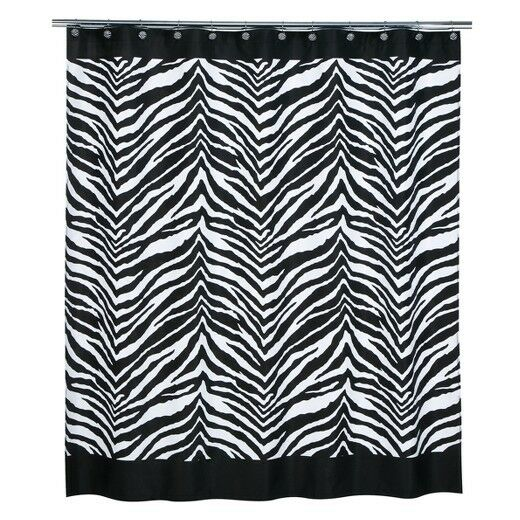 Creative Bath Black White Zebra Stripe Safari Animal Fabric Shower Curtain For Sale Online