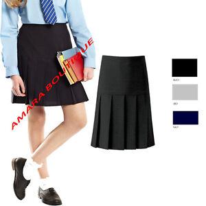 Bambine Nero /& Navy a tutto tondo Scuola Gonne /& OCCASIONE Wear Taglia Bambini-Adulti