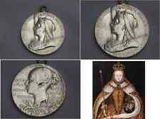 Sterling Silver Queen Victoria Medal  pendant 1897 Diamond Jubilee