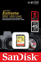 Sandisk 8g Extreme Full Hd Sd Card For Sony Wx70 Wx150 Tx20 Tx200v Hx10 H90