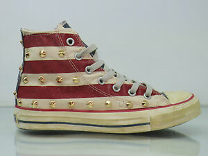 Bandiera Star Hi Artiginali Borchie Distressed All Oro Americana Converse wRqF5XUx6