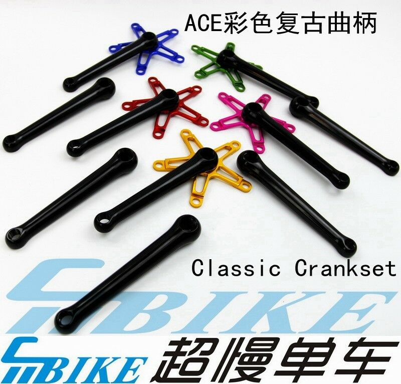 ACE Farbe Crankarms BCD110 130 165 170mm for Brompton Square Taper crankset