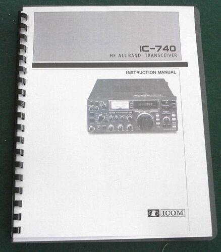 Premium Card Stock Covers /& 28lb Paper! Icom IC-740 Instruction Manual