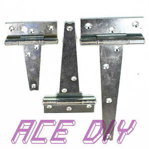 Serenable 2pcs Door Strap T Hinge Cabinet Shed Barn Gate Small Doors Shed Tee Hinge Home Furnishing