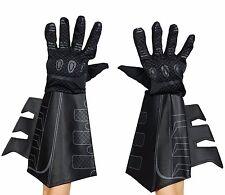 Mens Batman Gloves Bat Man Gauntlets Black Dark Knight Rises Costume Adult  NEW
