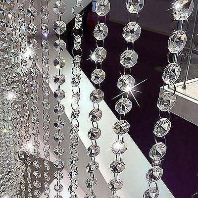 10pcs of 1M Acrylic Crystal Bead Wedding Hanging Drop Chandelier Curtain Wedding