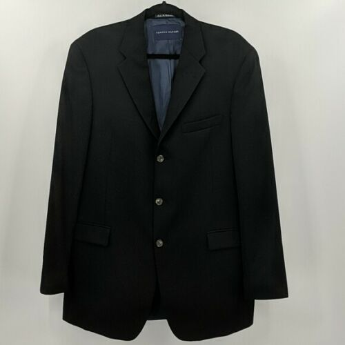 Men's TOMMY HILFIGER Black Wool Sportcoat Sz 42L