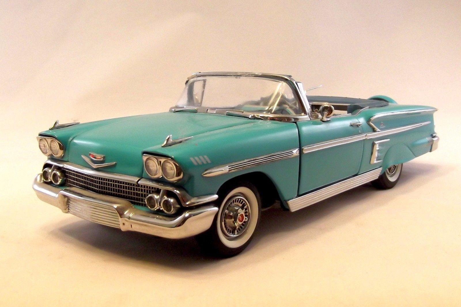 grandes ahorros Danbury como nuevo 1958 1958 1958 Chevrolet Impala convt con caja embalaje verde Azulado 1 24  comprar barato