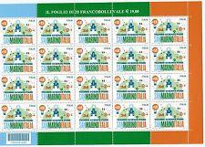 Italia Repubblica  2015 minifoglio techno science  da 0,95 cpn codice a barr MNH