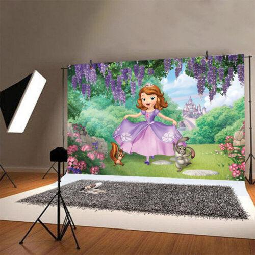 Sofia Photography Backdrop Princess Birthday Party Photo Background Decoration