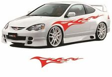 """Flame Auto Graphic decal large 12""""x 48"""" flaming body car truck vinyl flames v101"""